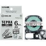 Tepra PRO tape strong adhesive label (transparent black letter)