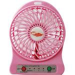 USB rechargeable compact fan with LED light