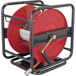 Hose reel with rotating base