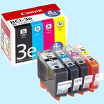 Ink Tank BCI-3e genuine 4 color Multipack, BK,C,M,Y
