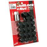 Bull Lock&Nut, Wheel Lock & Nut Set for Robbery PreventionBlack for Ball Head Lock Nut Type 5 Hole