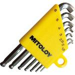Ball point hex key wrench set stubby short type,Horo Wrench