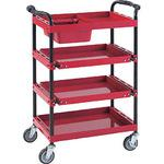 Tool Wagon Best 4 Step 2 Way Slide Shelf with Red