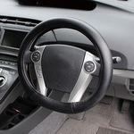 Leather Winding Oval Steering Wheel Cover