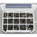 M3-M8 hex nut washer set(stainless steel/black)
