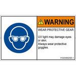 PL warning labels (ISO / SEMI compliant) instructions: wear English of eye protection