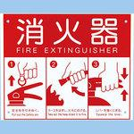 Display plate for fire extinguisher box
