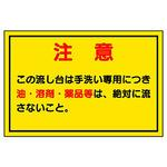 Indoor waste water sorting sticker sign
