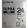 Tepra Pro Tape Transparent Delustering Label