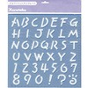 Alphabet template uppercase
