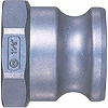 Lever lock coupler plug LA type (for male thread mounting)