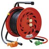 Indoor type single phase 100 V grounding type reel with a ground (extended cord type)