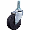 Screw Type 420EA Swivel Caster, Rubber Solid Wheel