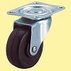 LG Type Swivel Caster, Rubber Wheels, Double Bearings, Plate Type