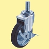 SJT Type Swivel Caster, Double Bearing, Screws Inserted And With Stopper
