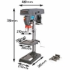 Powerful type desktop drilling machine with cover 5 speed shift