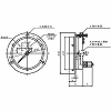 Regular Pressure Gauge (for Indoor) 100phi General Use