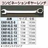 19 mm combination gear wrench