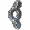 Press Fly Nut, Iron / Uni-Chromium