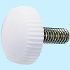 Painted Screw No.2 White, Iron/Chromate