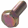 Hex Head Bolt, Iron/Chromate) All The Screw Threads