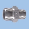 Reducing Nipple Stainless Steel Made Threaded Pipe Joints, White