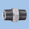 Nipple Malleable Cast Pipe Fitting. White