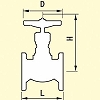 Malleable General-Purpose 10K Type Globe Valve, Flange