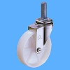 Screw Type 420EA Swivel Caster, Nylon Solid Wheel