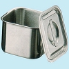 18-8 (SUS 304) Shallow corner kitchen pot (with lid)