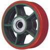 Ductile caster (wide type) for the wheels (urethane (B input) car)
