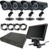 Legacy security camera set infrared outdoor camera four monitors and with recorder