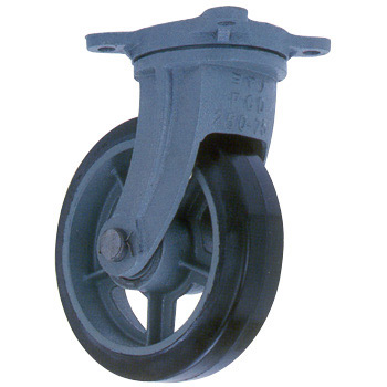 Heavy Duty Rubber Wheel Swivel Caster, HB-g