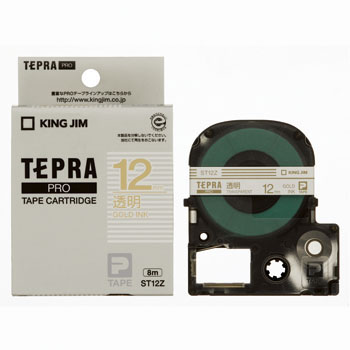 TEPRA PRO Tape, Transparent Label, Gold Character