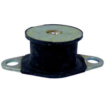 Round Shape Rubber Cushion, Single-Sided Nut Embedding Type, , Plate & Nut Embedded Type,