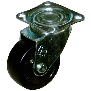 420S Swivel Caster, Rubber Solid Wheel