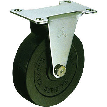 Stainless Steel 320ER, Rigid Caster, Rubber Solid Wheel,