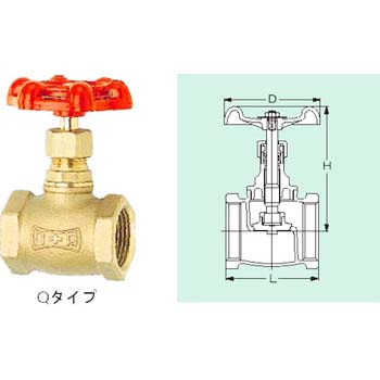 Bronze globe valve (screw-in type) Q series