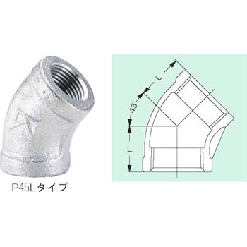 45 degree elbow threaded fitting type fitting