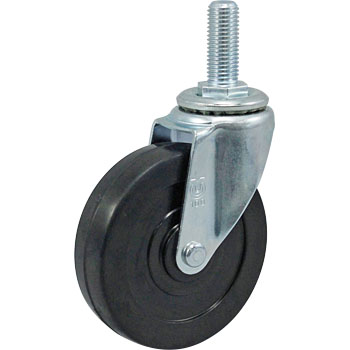 Screw-Type St Type Swivel Caster, Double Bearing, Rubber Wheel