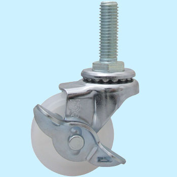 Screwed-Type Sus-Et Type Swivel Caster, Double BearingWith Stopper, Nylon Wheel