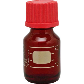 Screw mouth bottle Brown with red cap