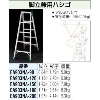 2.0m stepladder combination ladder