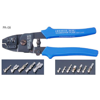 Connector pliers, for open barrel terminal
