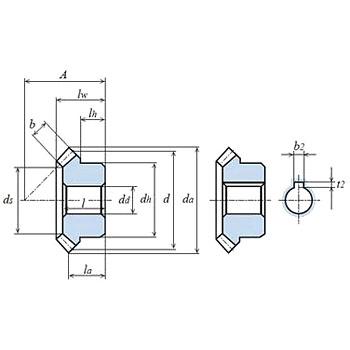 Bevel gear module 2 S45C