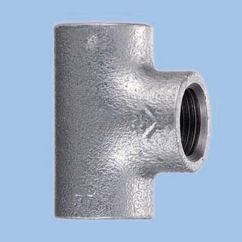 Tee Malleable Cast Pipe Fitting White