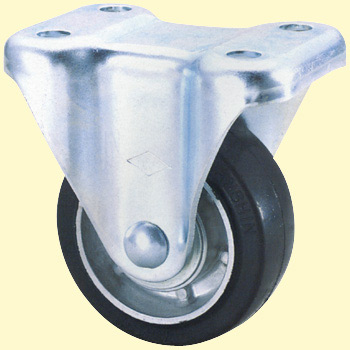 Skm Rigid Caster, Rubber Wheel