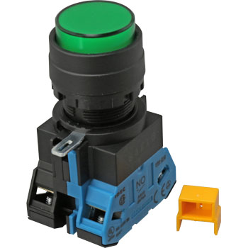 HW series Illuminated pushbutton switch phi22 (round protrusion LED) (Momentary type)