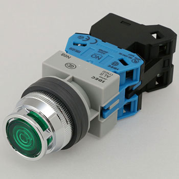 phi25 TWS series illuminated pushbutton switch (incandescent with protrusion full guard)