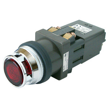 Phi 30 Series Illuminated Pushbutton Switch, Cuspidated Shape Incandesce, Full Guard, BA9S